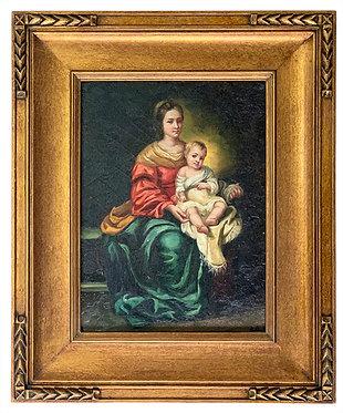 """D'après Bartolomé Esteban Murillo """"Vierge à l'enfant"""""""