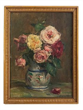 """BRUNETTON Joseph Auguste """"Nature morte aux fleurs"""""""