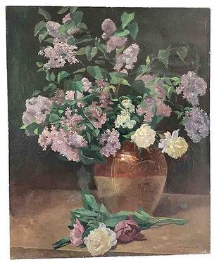 """BAUDOUX Emile """"Bouquet de lilas"""""""