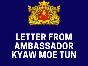 Letter from Ambassador Kyaw Moe Tun to Secretary-General H.E. Mr. Antonio Guterres on 24 Oct 2021