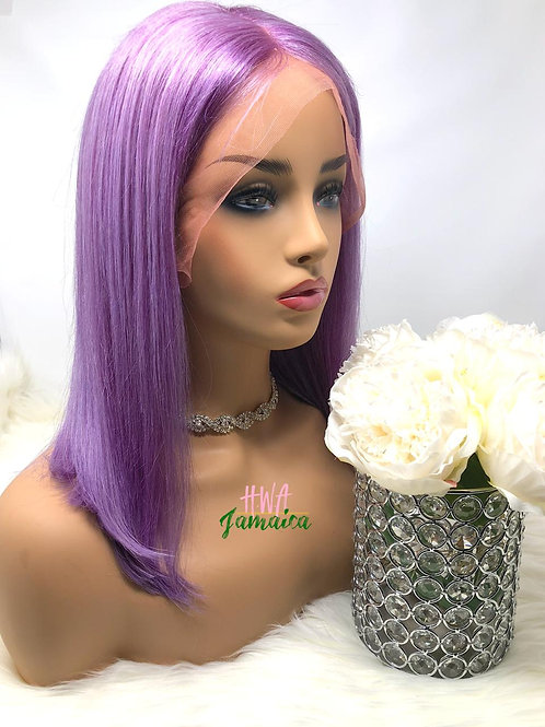 "14"" Brazilian Straight Lavender Bob Lace Front Unit"