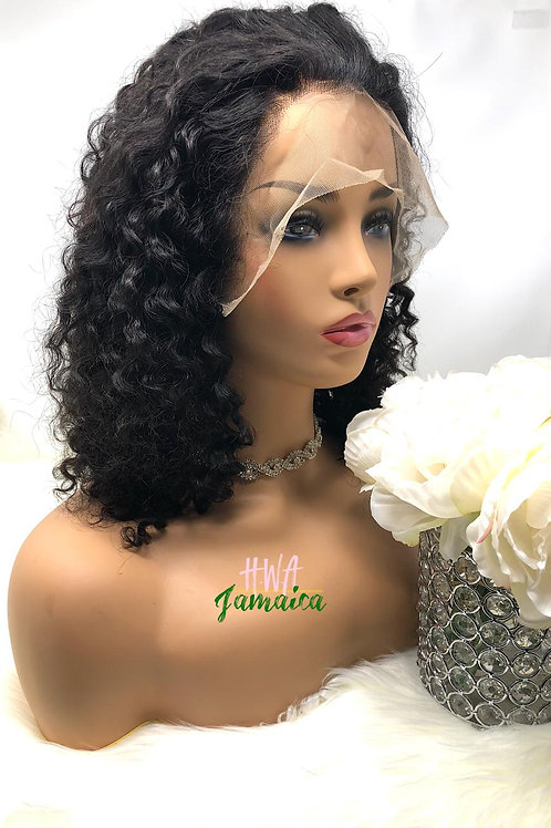 "12"" Loose Kinky Curly Lace Front Unit"