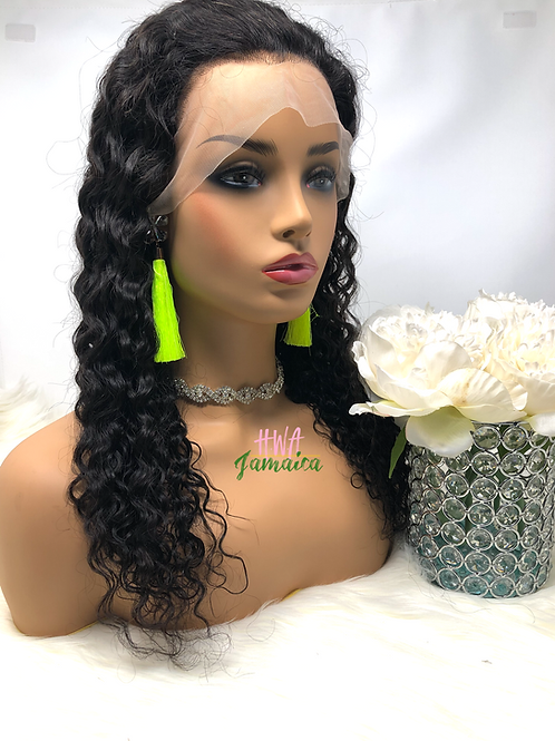"20"" Brazilian Loose Kinky Curly Lace Front Unit"