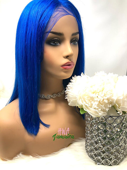 "14"" Brazilian Straight Blue Bob Lace Front Unit"