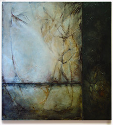 """""""Remembering the Yesterdays"""" by Sara Bowers. Mixed Media on Board. 57.5x63.5 in"""