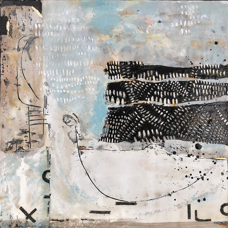 """""""If There Ever Was"""" by Sara Bowers. Encaustic. 40x40cm. $790"""