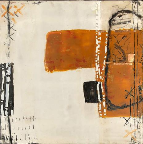 """When I Return"" by Sara Bowers. Encaustic. 20x20cm. $620"