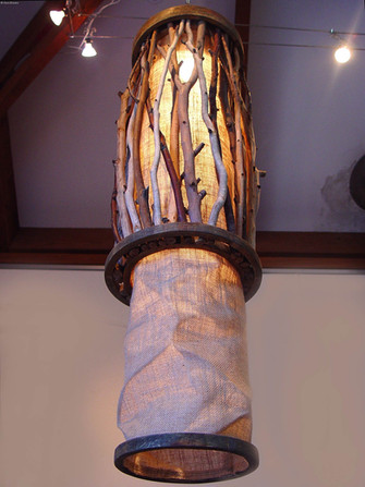 """""""Revolution"""" by Sara Bowers. Jute, Wood and Gum Branches 40 x 100 cm"""