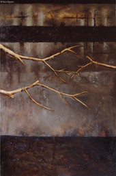 """""""Through the Window 1"""" by Sara Bowers. Mixed Media on Canvas. 36x60 in"""
