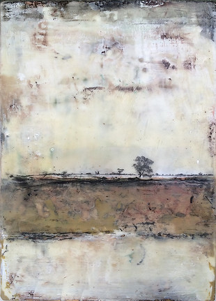 """Wimmera 1"" by Sara Bowers. Encaustic. SOLD"