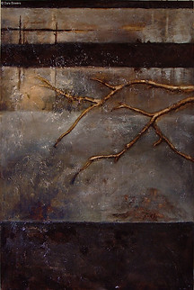 """""""Through the Window 1"""" by Sara Bowers. Mixed Media on Canvas. 40x60 in"""