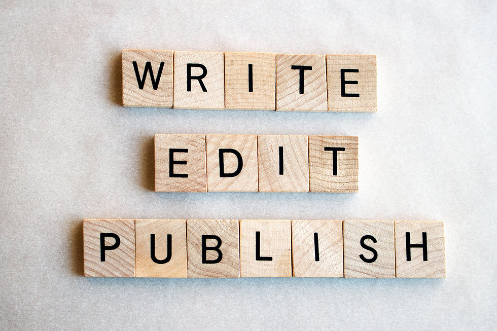 The words Write Edit Publish written in