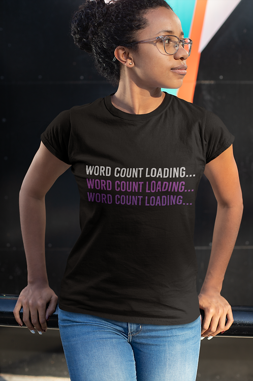 Word count loading T-shirt