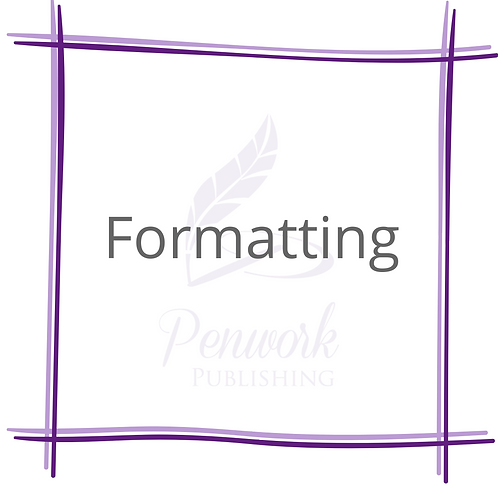 Formatting (Paperback, eBook or both)