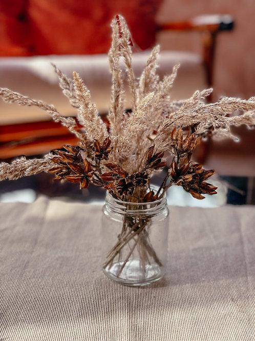 Deko Trockenblumen Strauß im Glas 4