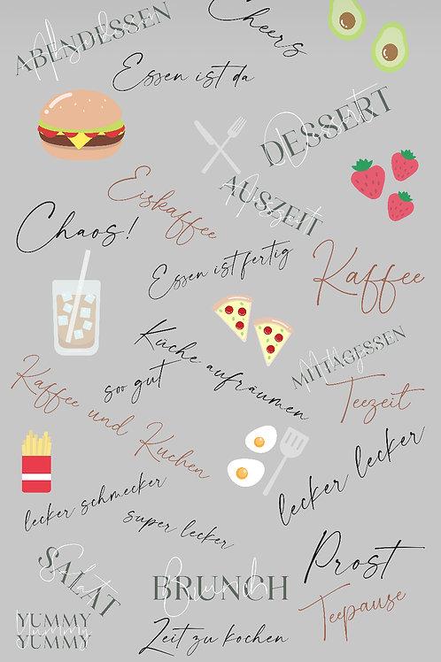 68 Story Sticker für Instagram Thema Food, Essen, Trinken...