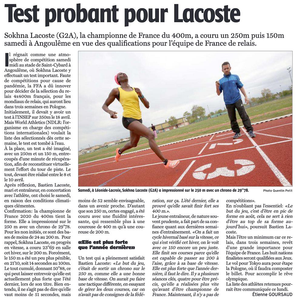 Test probant pour Lacoste