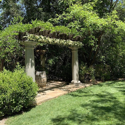 Floral install on the beautiful pergola