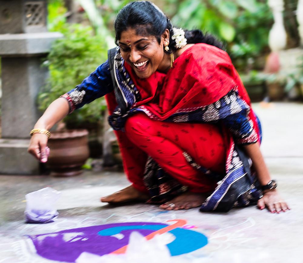 "Making a ""Rogaan"", Mahabalipuram, Tamil Nadu, India"