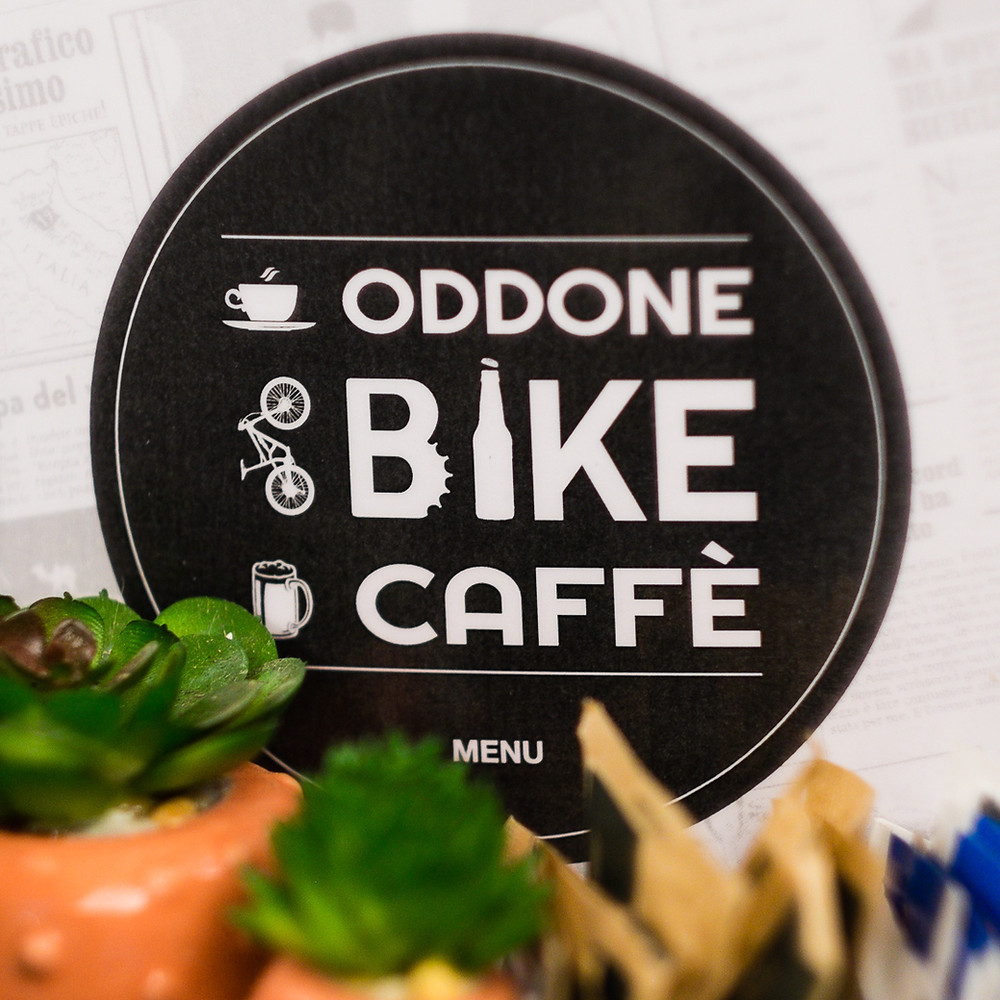 Oldest bicycle shop and cafe in Finale Ligure, Italy