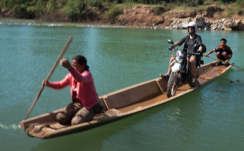 Crossing the river, Laos PDR