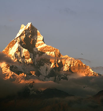 Fishtail at Sunset, from Dhampus, Nepal