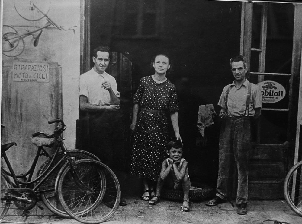The oldest bicycle shop in Finale Ligure, Italy