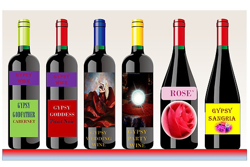 Enjoy Our Gypsy Wines! Cabernet, Rose`, Sangria, or Gypsy wedding or Party wine
