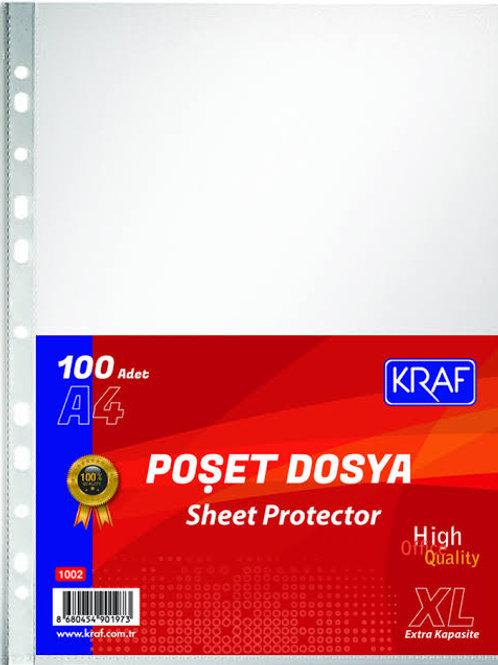 KRAF POŞET DOSYA A4 100LÜ XL