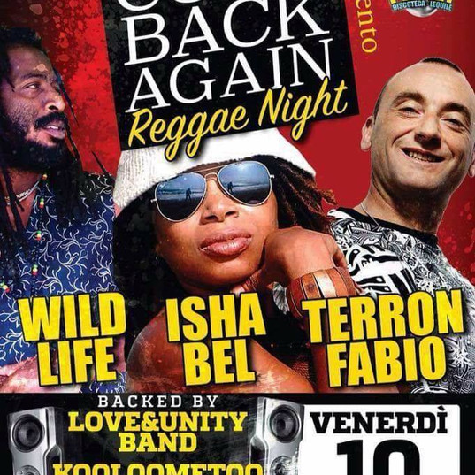 Isha bel performs in Italy with Sud sound system Teron Fabio