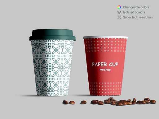 realistic-front-view-paper-cups-mockup-w