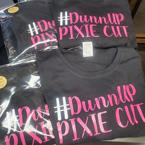"#DunnUP PIXIE CUT Tee ""Pink"""