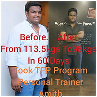 Arun Eappachan from 118 to now 102 kgs