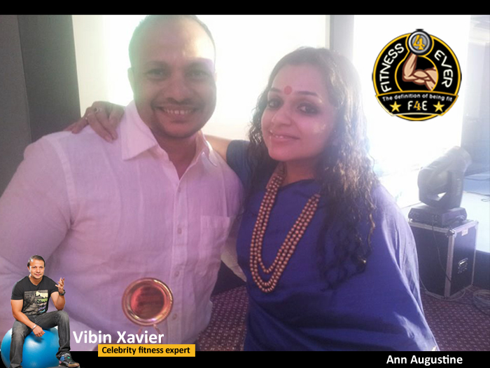 Ann Augustine with Vibin Xavier