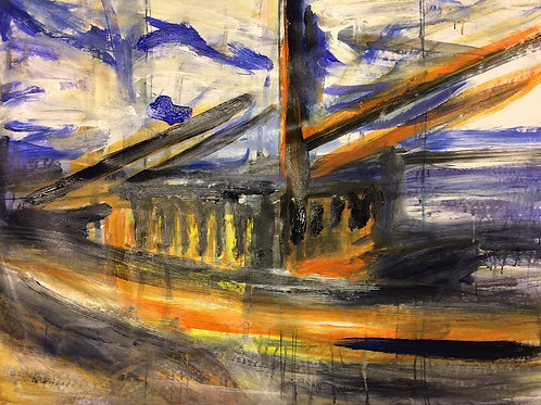 Ghost Ship, Akrylmålning.