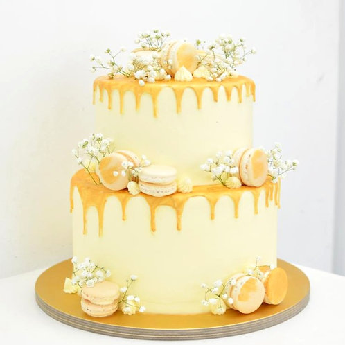 Elegant Gold and White (2-tier)
