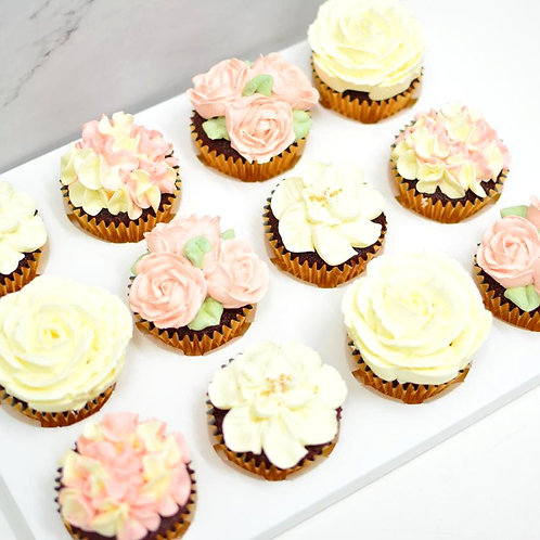 Floral Cupcakes (Box of 12)