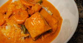 Salmon and Shrimp Coconut Thai Red Curry