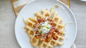 Cornbread Cheesy Waffles