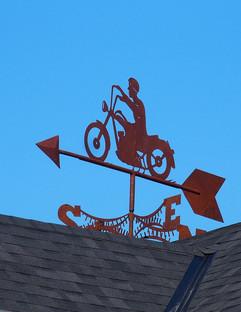 Josée's Biker (silhouette closeup)