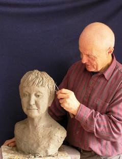 Sculpting the Bust of Junita Kirby