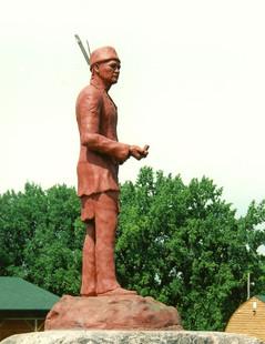 Chief Keeshkemaquah (side view)