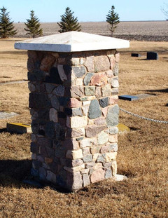 Pillar at Cemetery Entrance