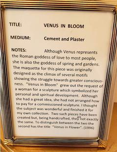 Venus in Bloom Plaque