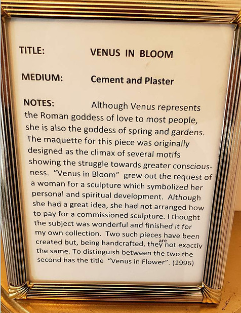 Venus in Bloom Plaque