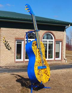 Laser Punk Guitar (Painted Yellow & Blue))