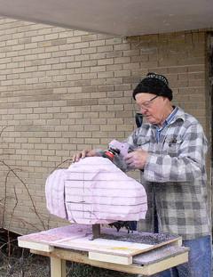Sculpting a Bison Maquette 1