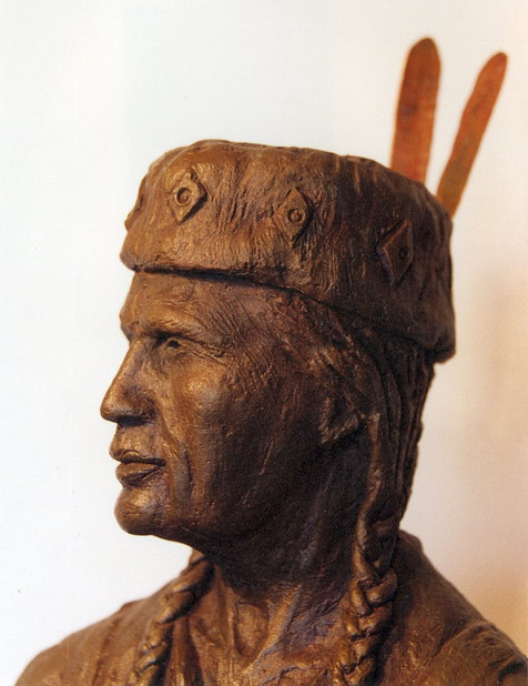 Chief Keeshkemaquah (closeup)