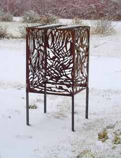 Decorative Box in Winter (rusted)