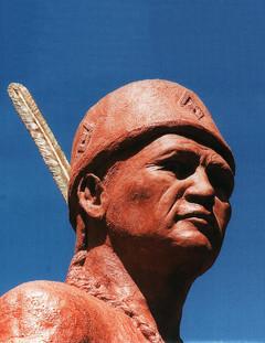 Chief Keeshkemaquah (closeup)